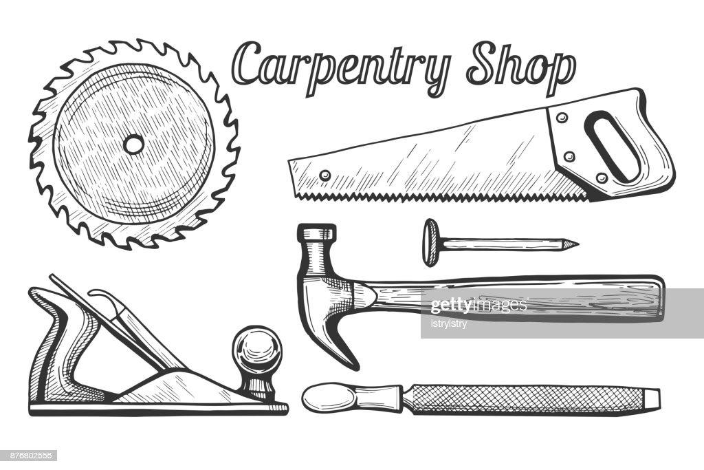 Carpentry shop icons
