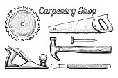 Carpentry shop icons