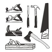 Carpentry tools. icon templates.