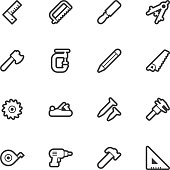 Carpentry tools icons - Regular Outline