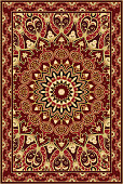 Carpet with pomegranate.