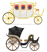 carriage for transportation of people vector illustration