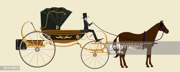 carriage - horsedrawn stock illustrations, clip art, cartoons, & icons