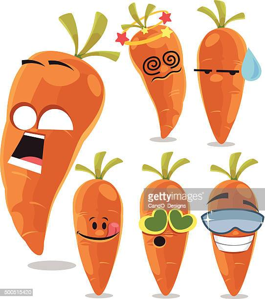 Carrot Cartoon Set A