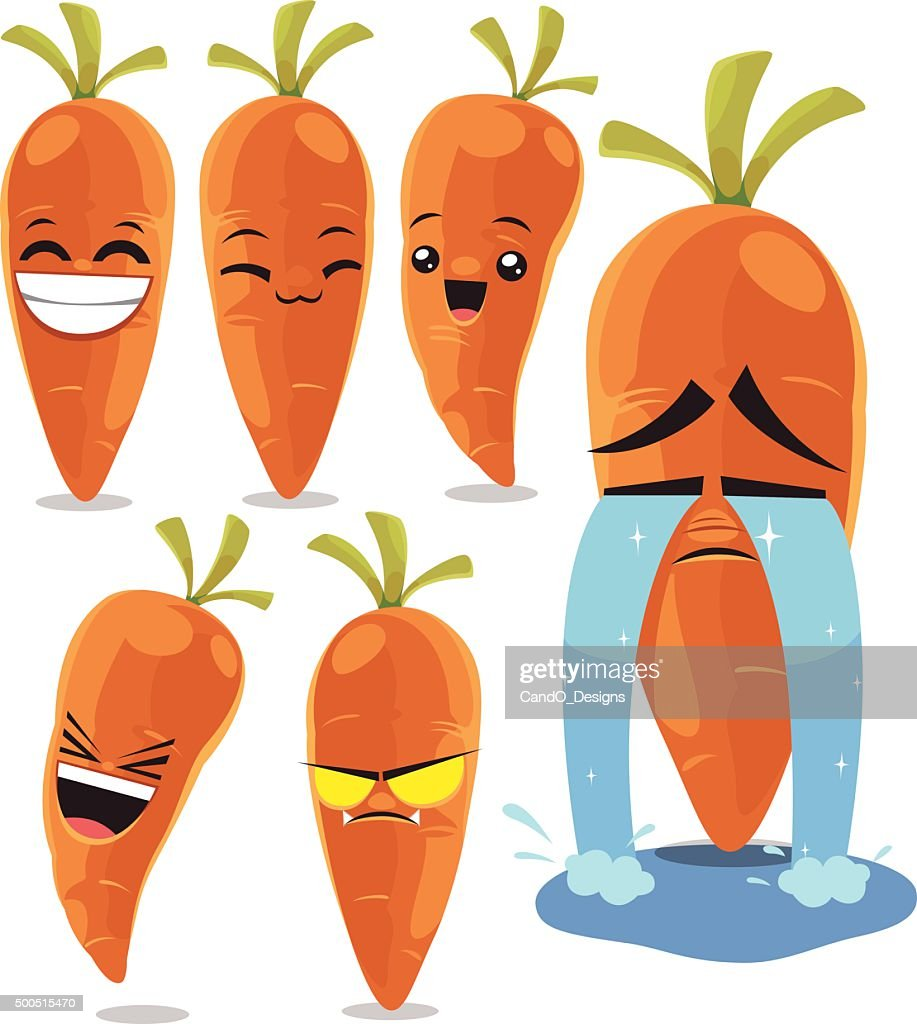 Carrot Cartoon Set B