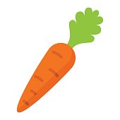 Carrot flat icon, vegetable and diet, vector graphics, a colorful solid pattern on a white background, eps 10.
