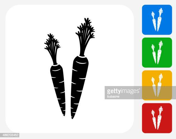 carrot icon flat graphic design - carrot stock illustrations