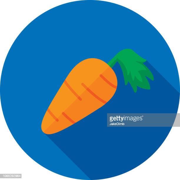 ilustrações de stock, clip art, desenhos animados e ícones de carrot icon flat - cenoura
