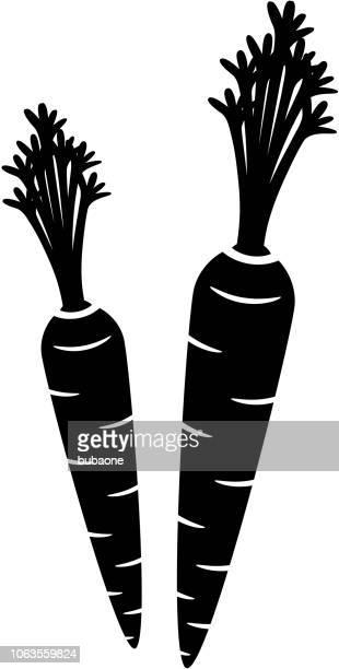 ilustrações de stock, clip art, desenhos animados e ícones de carrot icon with long shadow - cenoura