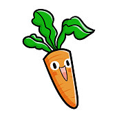 carrot laughing happily