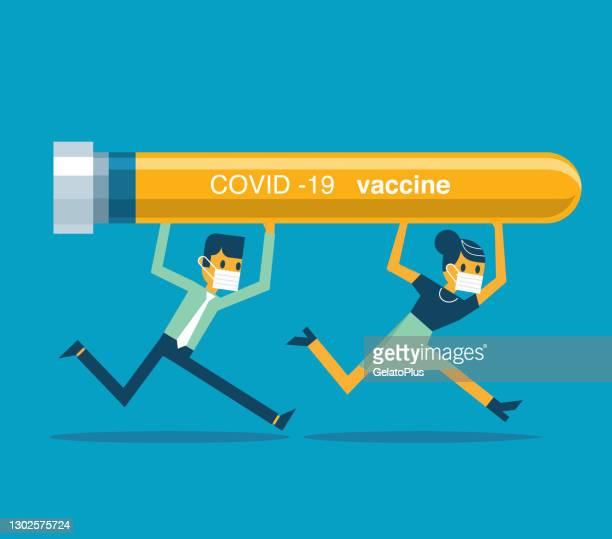carrying coronavirus vaccine - viral shedding stock illustrations