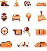 Cars and automotive themes. Vector icons