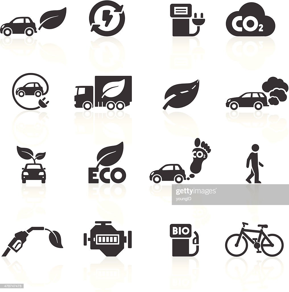 Cars and the Environment Icons : stock illustration