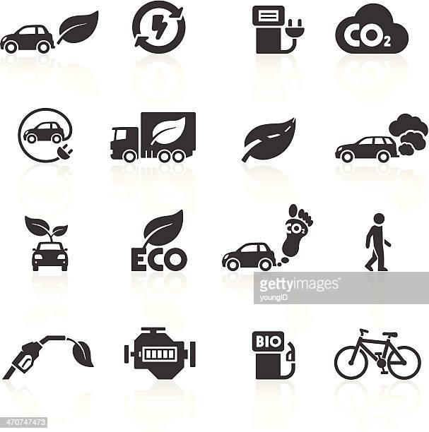 cars and the environment icons - fuel pump stock illustrations, clip art, cartoons, & icons