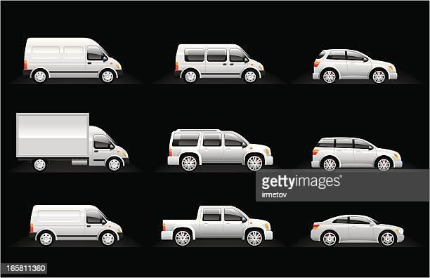 cars icon set - hatchback stock illustrations, clip art, cartoons, & icons