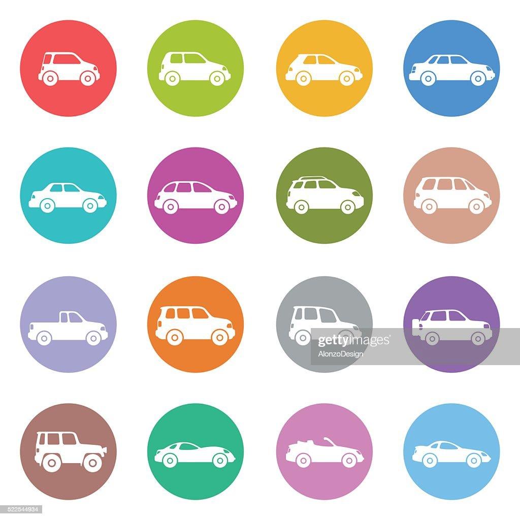 Cars Icon Set : stock illustration