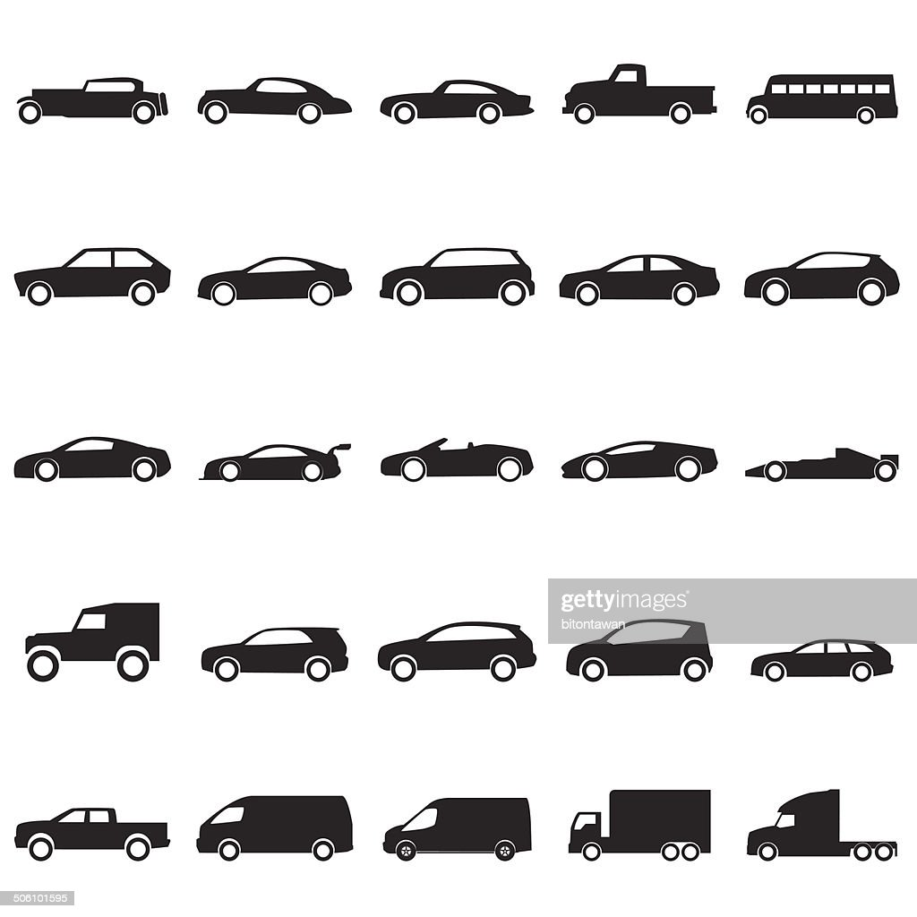 Cars icons set ,vector EPS10