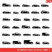 Cars icons set