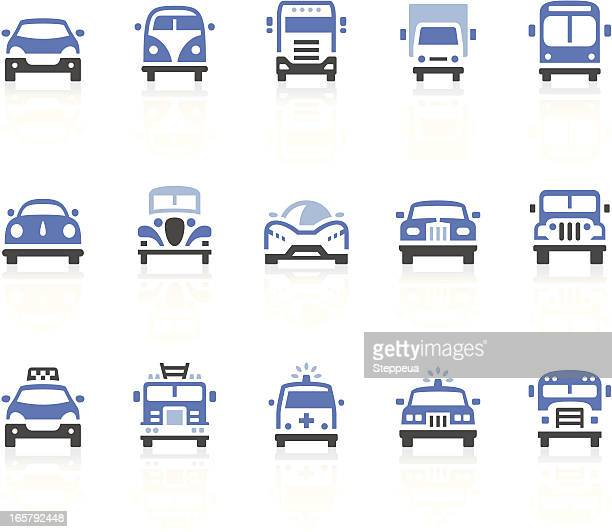 cars icons - fire engine stock illustrations, clip art, cartoons, & icons