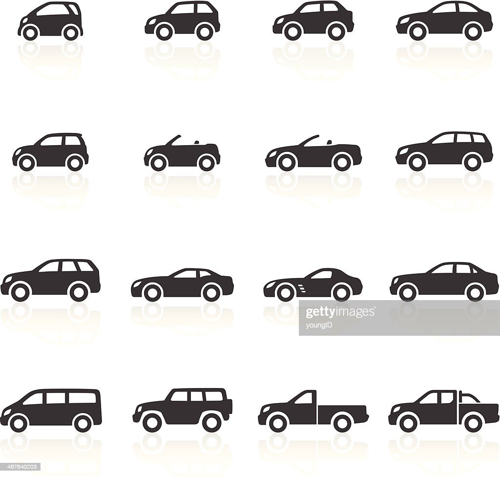 Cars Icons : stock illustration