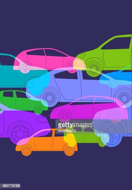 cars or automobiles - domestic car stock illustrations, clip art, cartoons, & icons