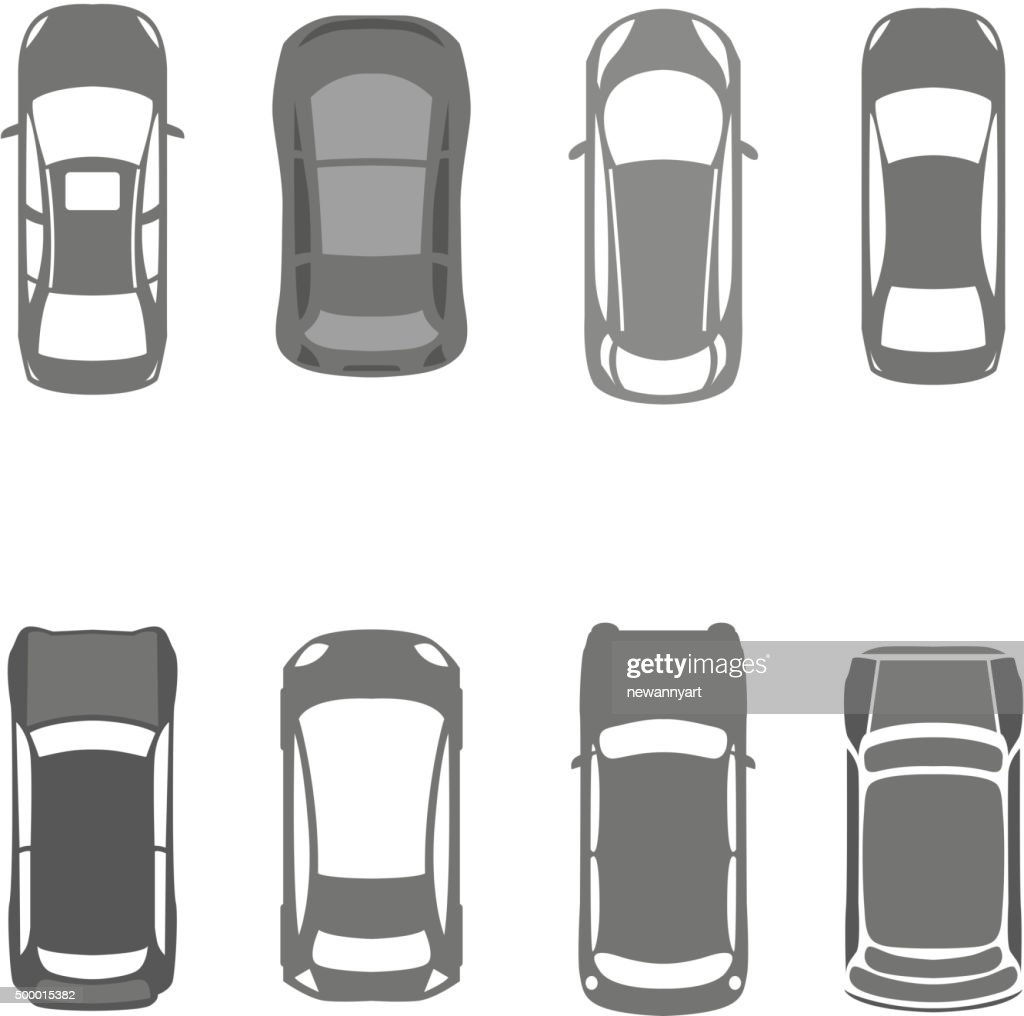 Cars top view 02 A