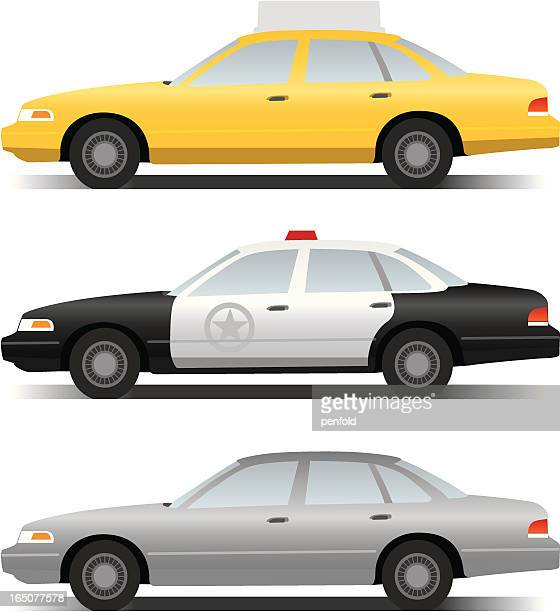 cars - taxi stock illustrations, clip art, cartoons, & icons