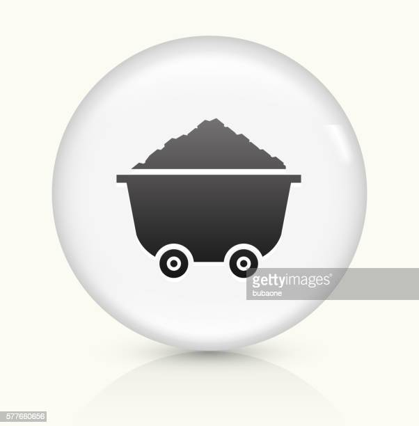Cart and Sand Pile icon on white round vector button