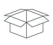 carton box isolated icon design
