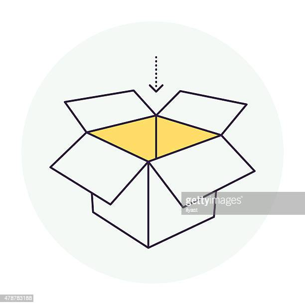 carton container symbol - open stock illustrations
