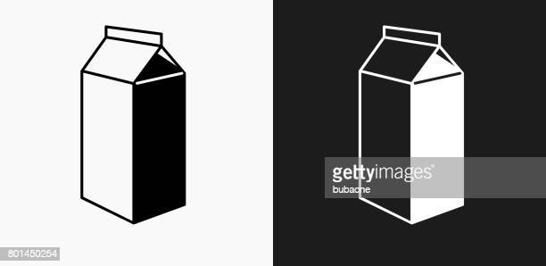 Carton Icon on Black and White Vector Backgrounds
