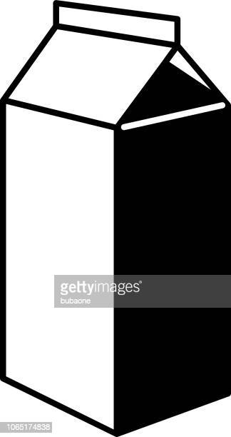 Carton Icon with Long Shadow