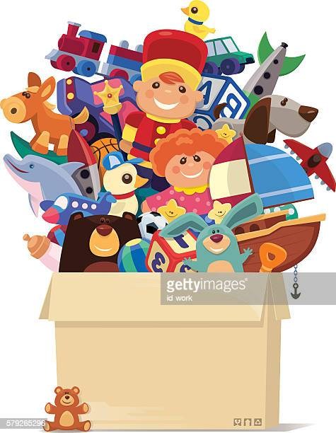 carton of toys - toy stock illustrations