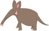 cartoon aardvark animal character