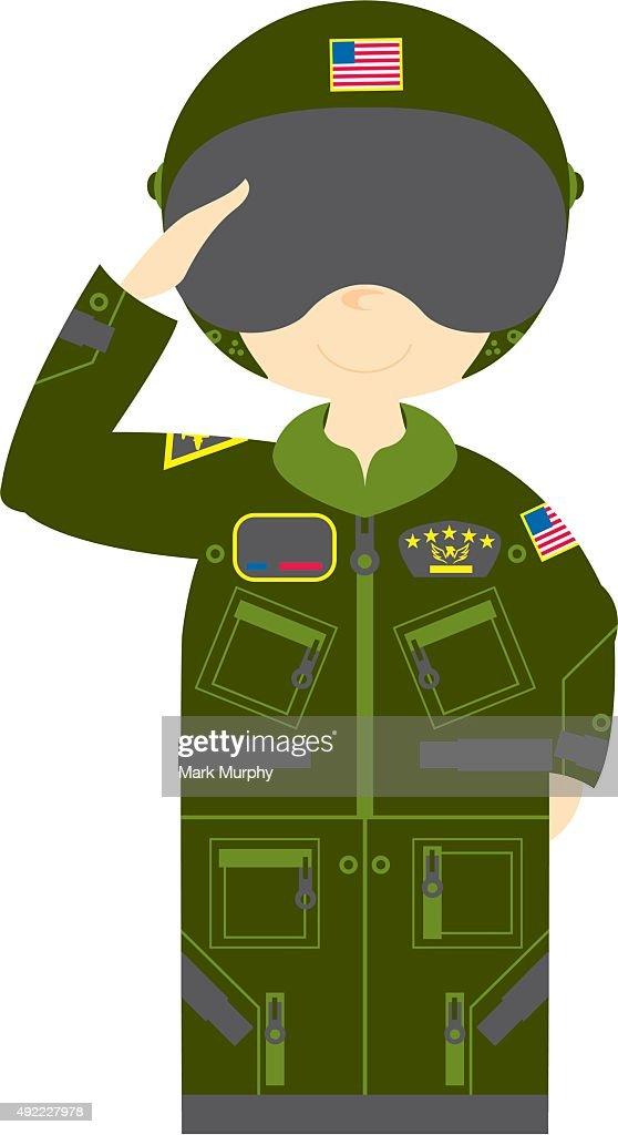 Cartoon Airforce Pilot