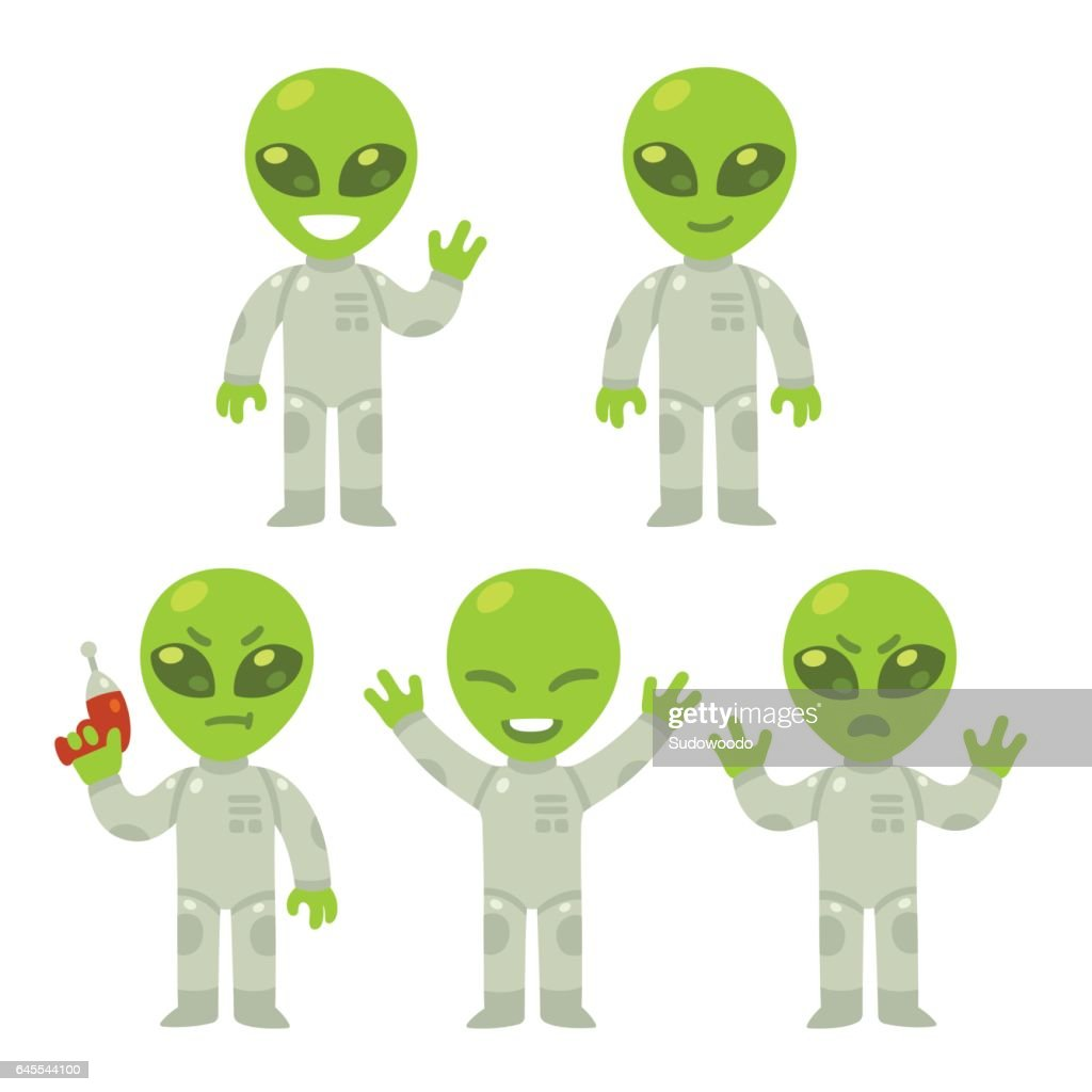 Cartoon alien set