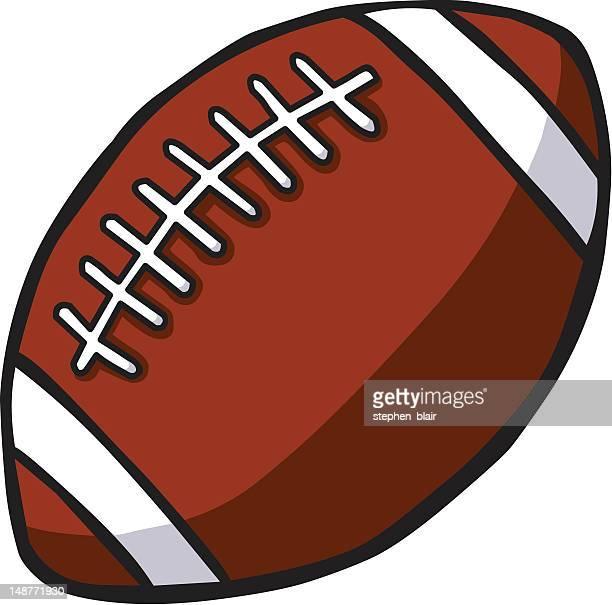 cartoon american football - stehen stock illustrations