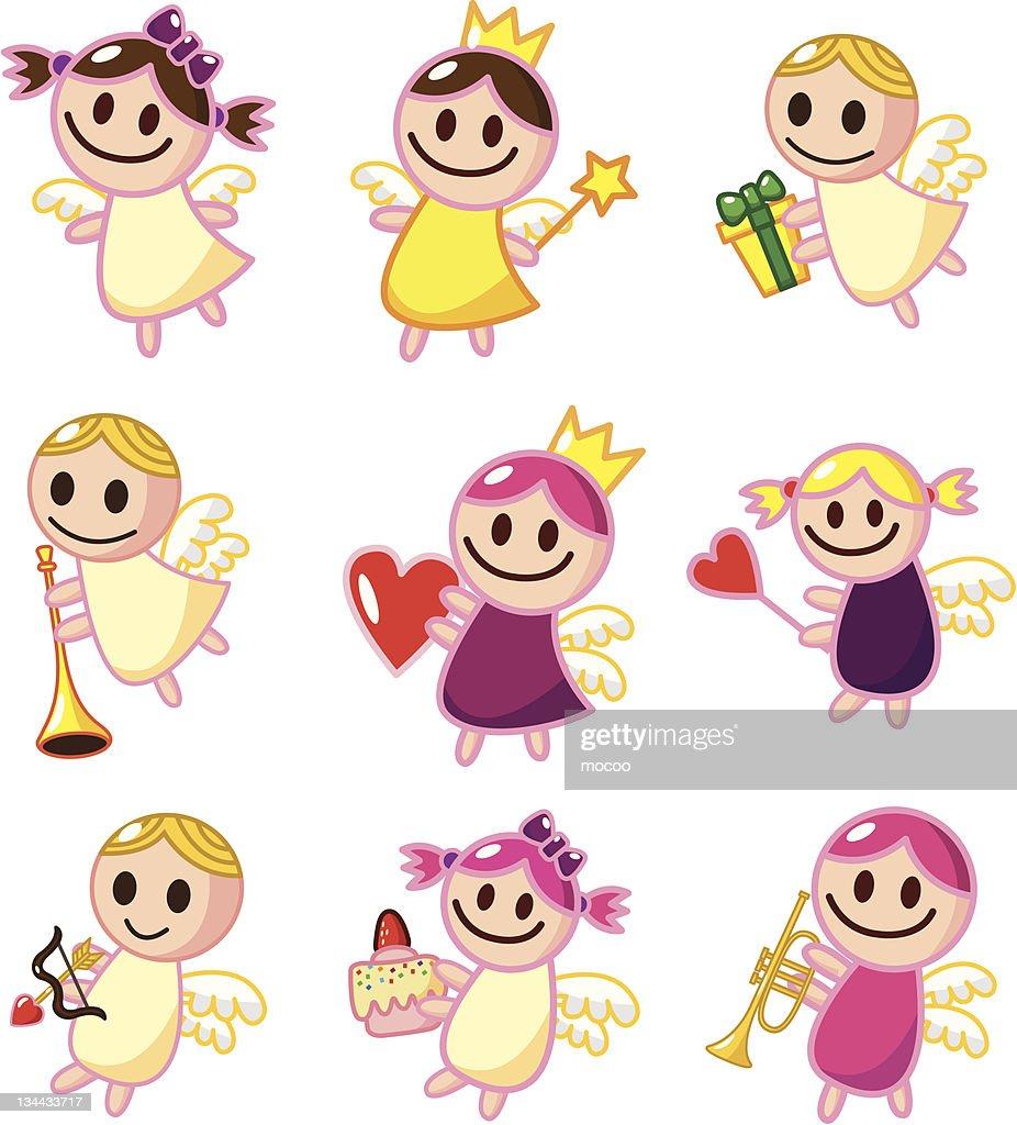 cartoon angel icons