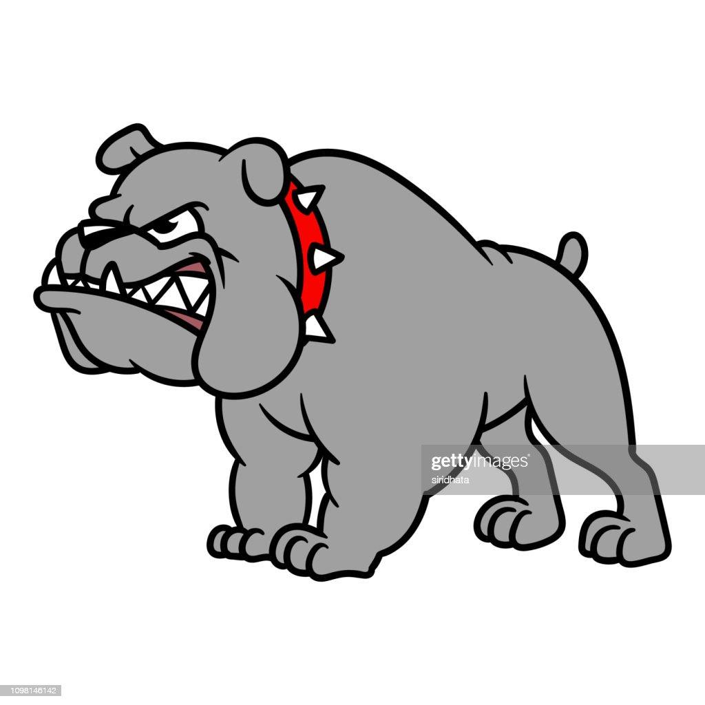 Cartoon Angry Bulldog