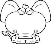 Cartoon Angry Elephant