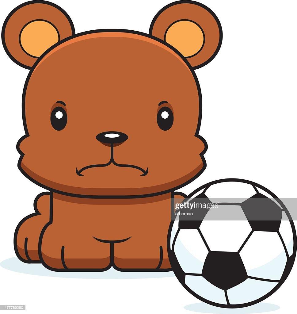 Comic Wutende Fussballspieler Halten Stock Illustration