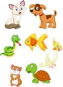 Cartoon animal pet