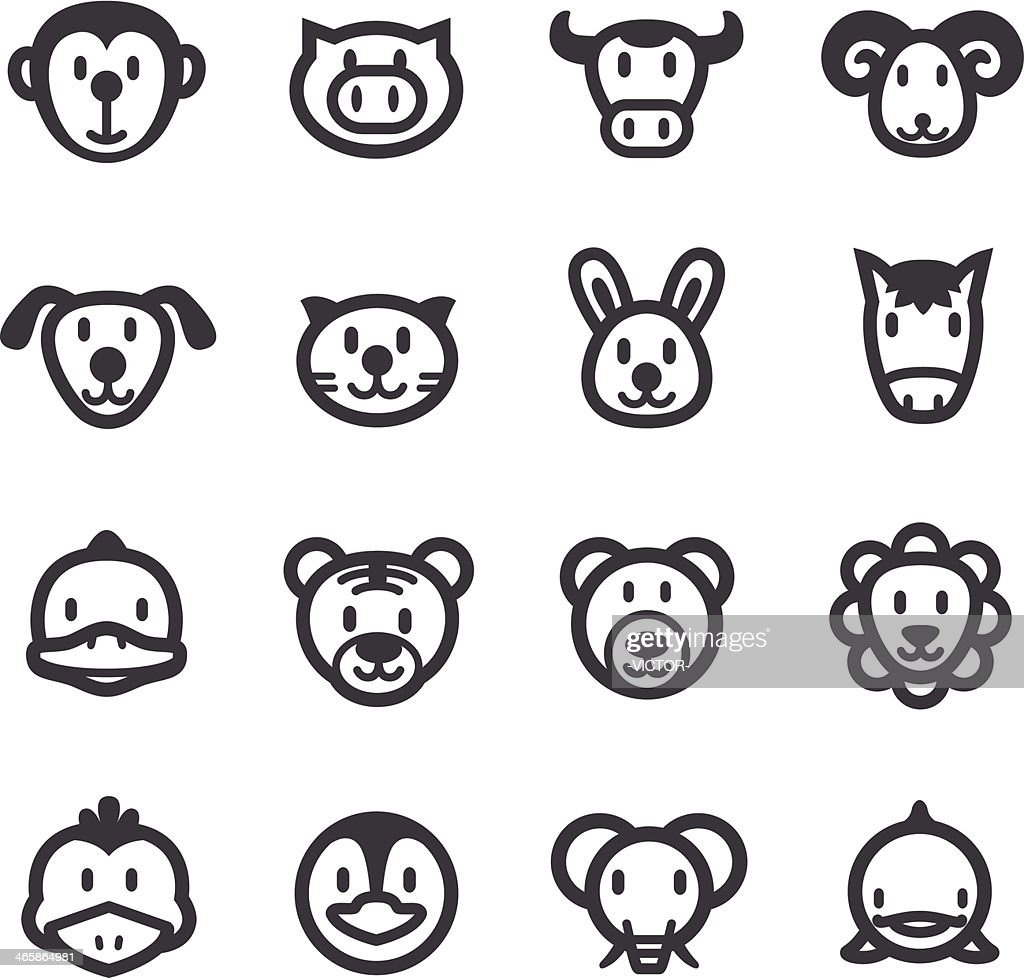 Cartoon Animals Icons - Acme Series