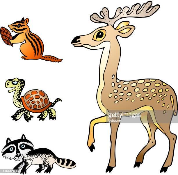 cartoon animals - chipmunk stock illustrations