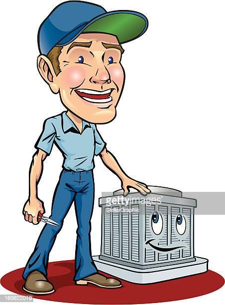 ilustraciones, imágenes clip art, dibujos animados e iconos de stock de aire acondicionado - aparato de aire acondicionado