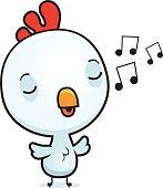 Cartoon Baby Rooster Singing