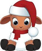 Cartoon baby sheep