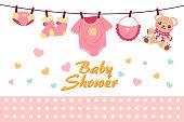 cartoon baby shower invitation card