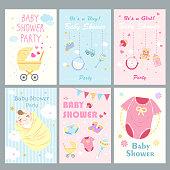cartoon baby shower