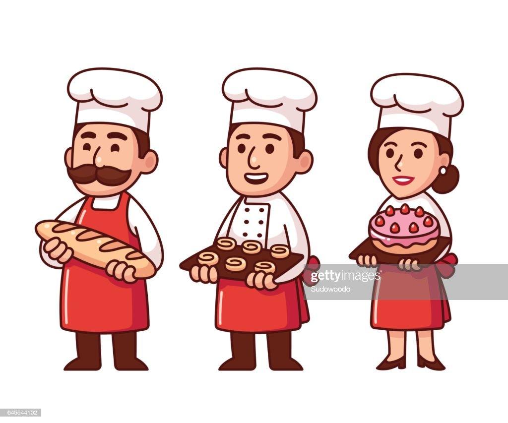 Cartoon bakers set